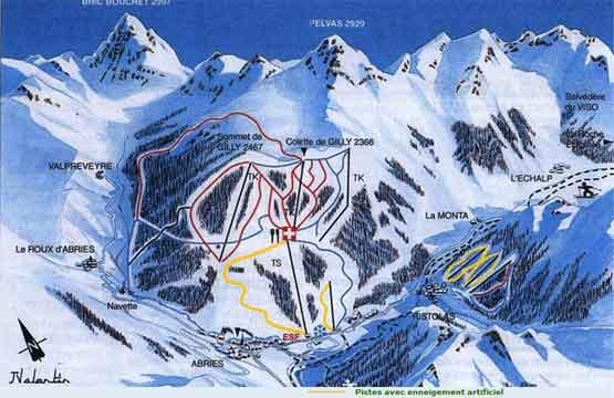 plan des pistes de ski